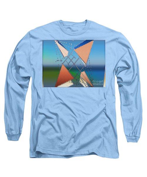 Long Sleeve T-Shirt featuring the digital art Wind Milling by Luc Van de Steeg