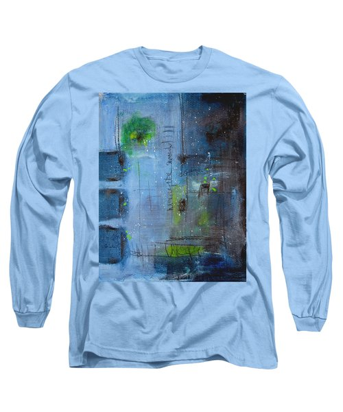 Long Sleeve T-Shirt featuring the painting Winter 2 by Nicole Nadeau