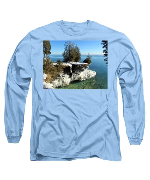 Winter At Cave Point Long Sleeve T-Shirt