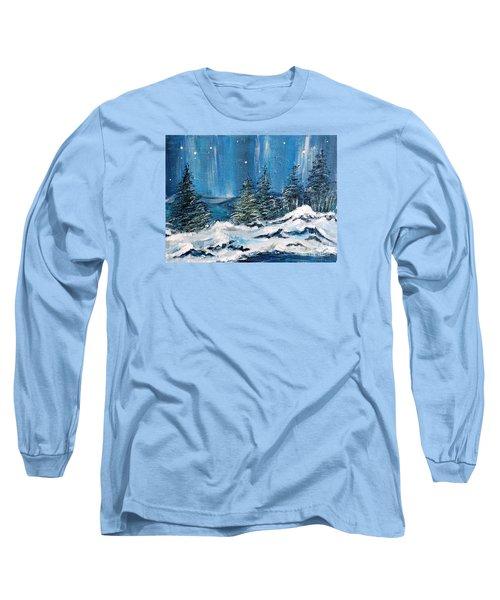 Winter Night Long Sleeve T-Shirt by Teresa Wegrzyn