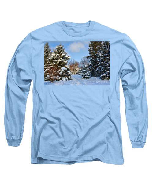 Long Sleeve T-Shirt featuring the photograph Winter Scenery by Teresa Zieba