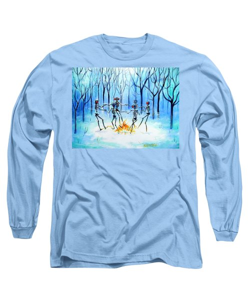 Long Sleeve T-Shirt featuring the painting Wonderland Ring by Heather Calderon