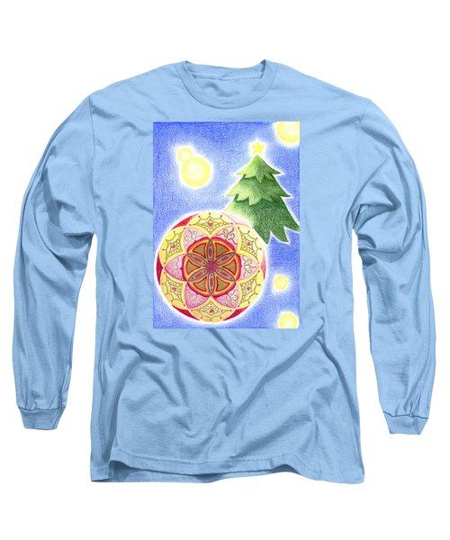 Long Sleeve T-Shirt featuring the drawing X'mas Ornament by Keiko Katsuta