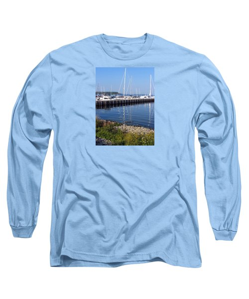 Yachtworks Marina Sister Bay Long Sleeve T-Shirt by David T Wilkinson