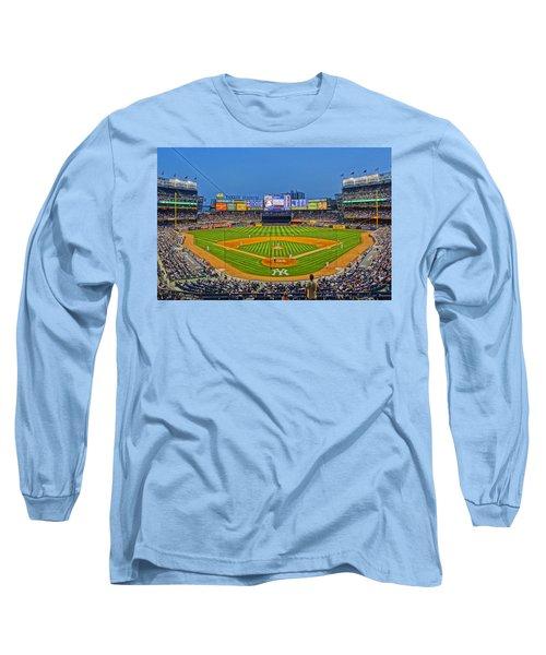 Yankee Stadium Long Sleeve T-Shirt by Jeffrey Friedkin