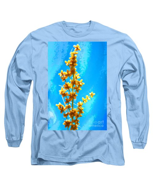 Long Sleeve T-Shirt featuring the photograph Yellow Plant by Yew Kwang