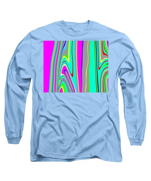 Long Sleeve T-Shirt featuring the painting Yipes Stripes II  C2014 by Paul Ashby