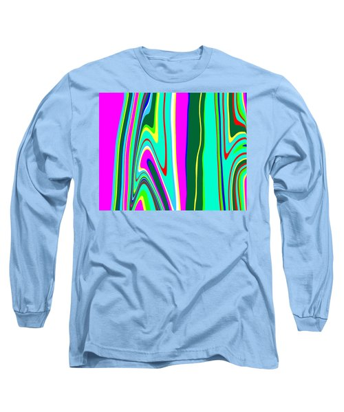 Long Sleeve T-Shirt featuring the painting Yipes Stripes II Variation  C2014 by Paul Ashby