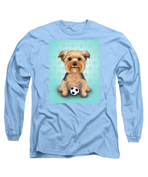 Yorkie  Baxter Hemenway Long Sleeve T-Shirt by Catia Cho