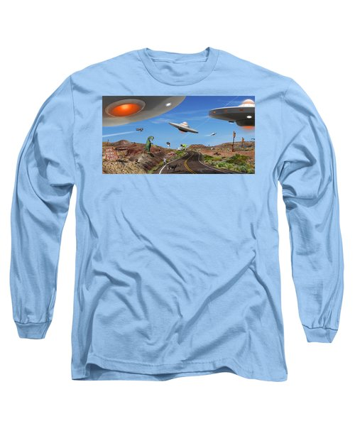 You Never Know . . . Panoramic Long Sleeve T-Shirt