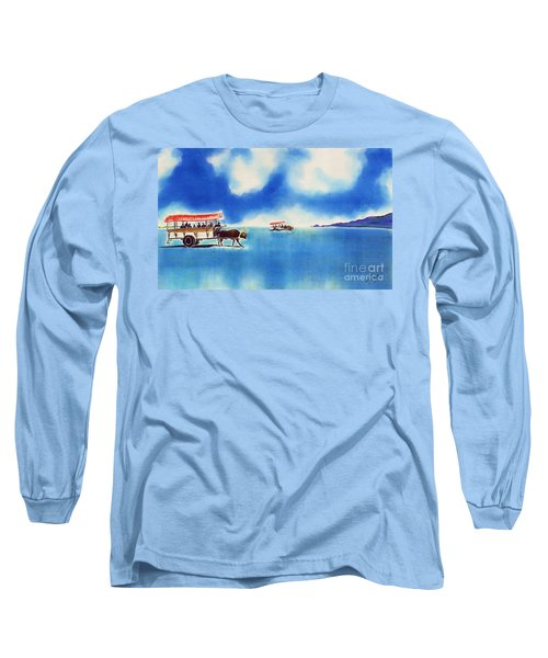 Yubu Island-water Buffalo Taxi  Long Sleeve T-Shirt