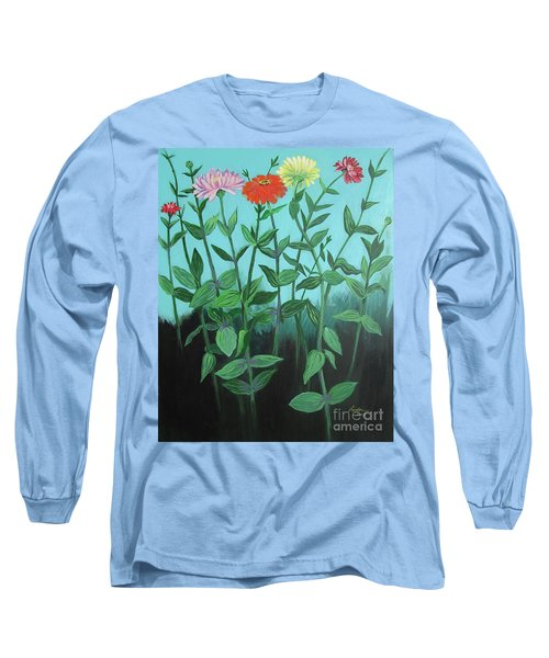 Zinnia Parade Long Sleeve T-Shirt