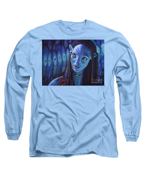Zoe Saldana As Neytiri In Avatar Long Sleeve T-Shirt