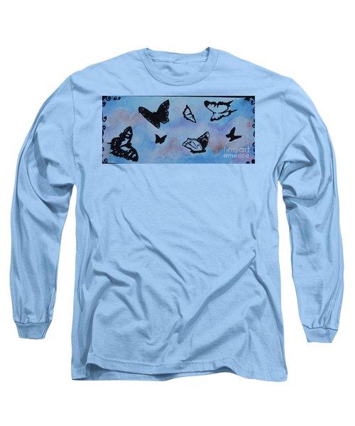 Chasing Butterflies Long Sleeve T-Shirt by Jan Bennicoff