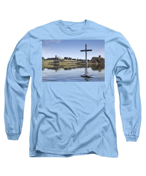 Cross In Water, Bewick, England Long Sleeve T-Shirt
