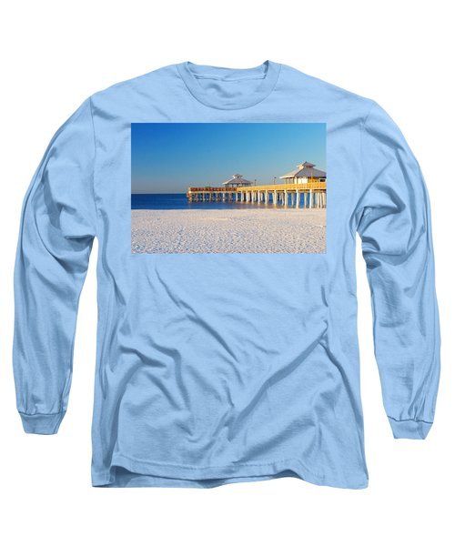 Fort Myers Beach Pier Long Sleeve T-Shirt