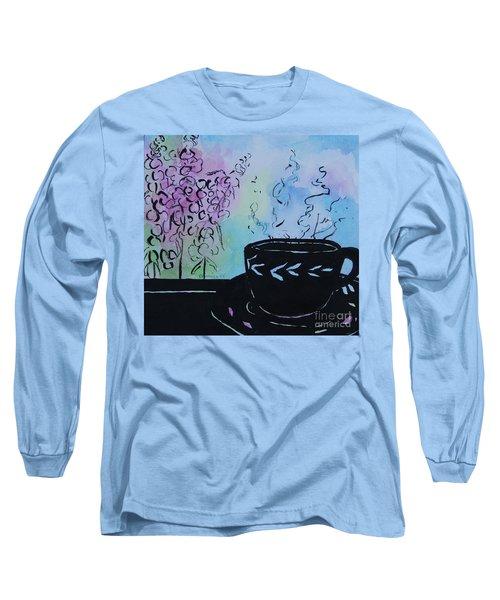 Tea And Snap Dragons Long Sleeve T-Shirt