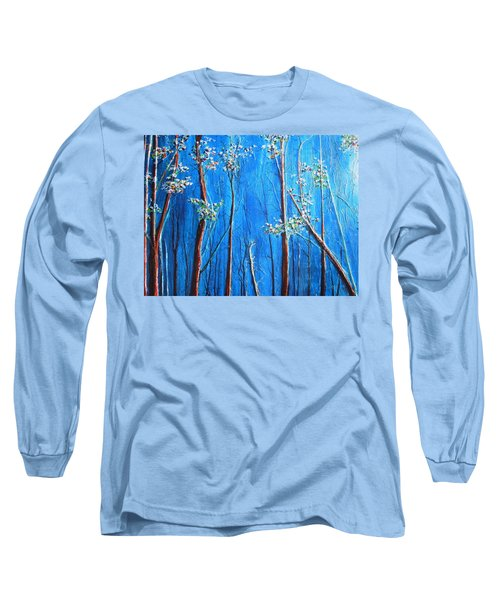 Long Sleeve T-Shirt featuring the painting Waiting by Dan Whittemore