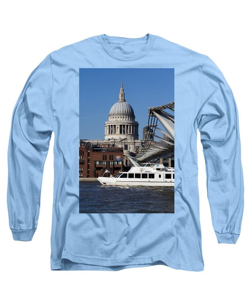 Millenium Bridge And St Pauls Cathedral Long Sleeve T-Shirt