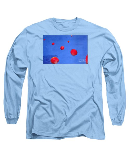 Orbs In Space 1 -- Crossing Paths Long Sleeve T-Shirt by Rod Ismay