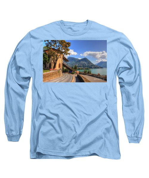 Road And Mountain Long Sleeve T-Shirt