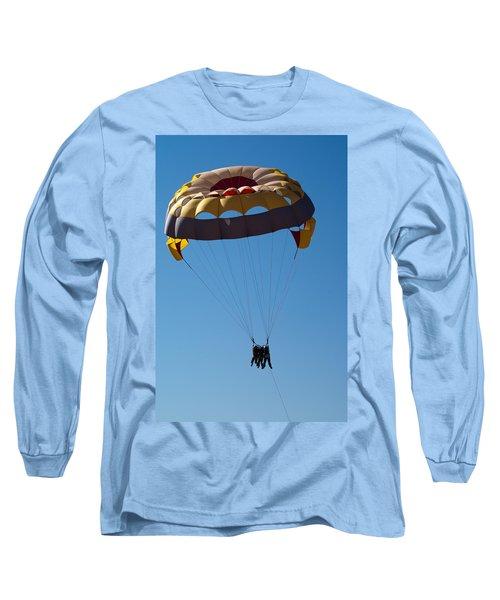 Long Sleeve T-Shirt featuring the photograph 3 People Para-sailing Pachmarhi by Ashish Agarwal