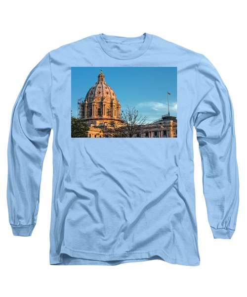 Long Sleeve T-Shirt featuring the photograph A Capitol Evening by Tom Gort