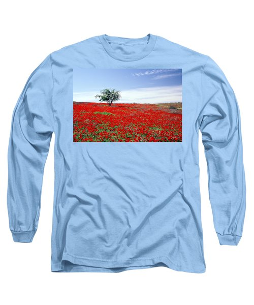 A Tree In A Red Sea Long Sleeve T-Shirt