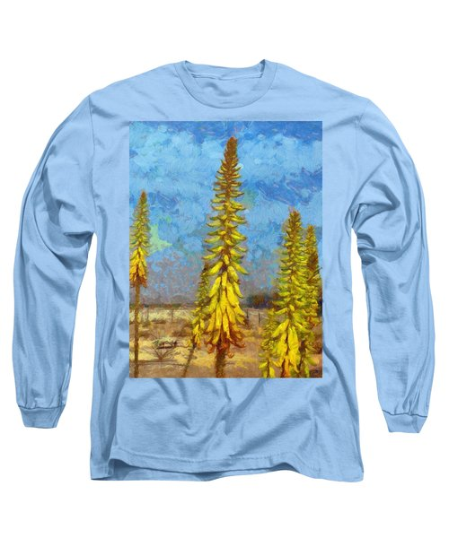 Aloe Vera Flowers Long Sleeve T-Shirt