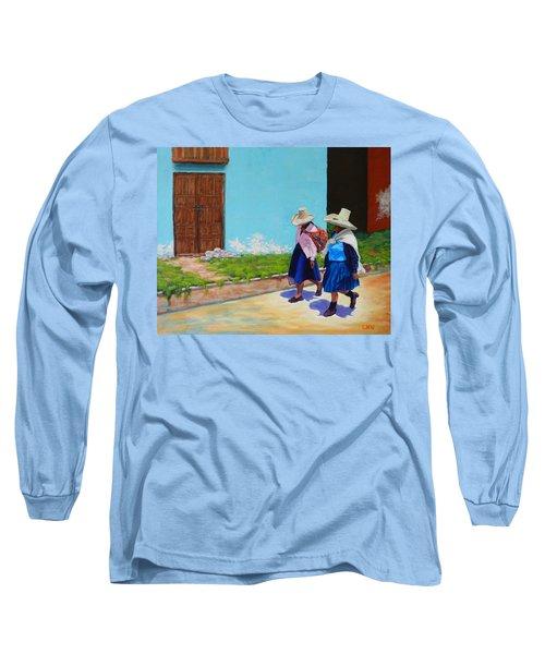 Andean Ladies, Peru Impression Long Sleeve T-Shirt