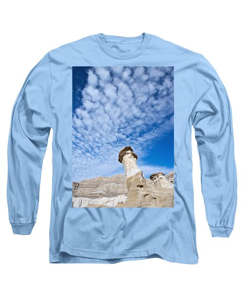 Angled Hoodoo And Clouds Long Sleeve T-Shirt