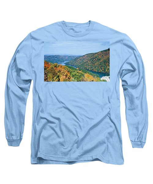 Long Sleeve T-Shirt featuring the photograph Autumn At Lake Tugalo by Susan Leggett