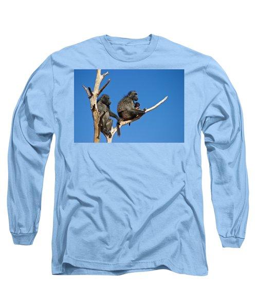Baboon Family Namibia Long Sleeve T-Shirt