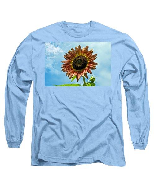 Long Sleeve T-Shirt featuring the photograph Beautiful Sunflower by Susan Leggett