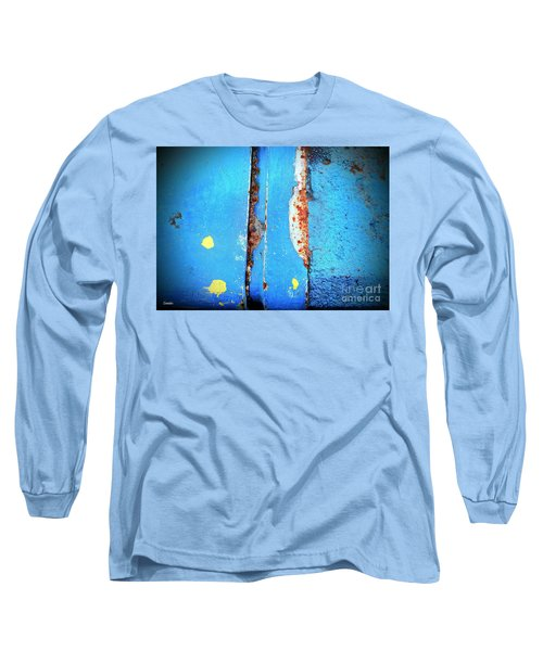 Blue Abstract Long Sleeve T-Shirt