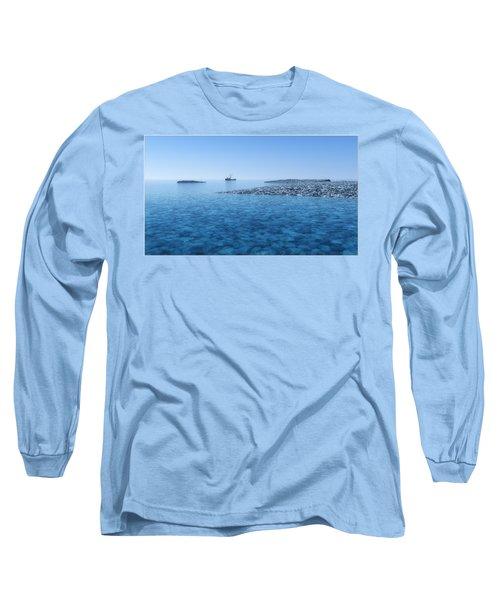 Long Sleeve T-Shirt featuring the digital art Blue Infinity... by Tim Fillingim