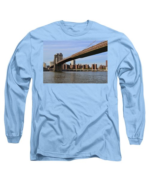Long Sleeve T-Shirt featuring the photograph Brooklyn Bridge1 by Zawhaus Photography