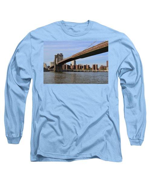 Brooklyn Bridge1 Long Sleeve T-Shirt by Zawhaus Photography