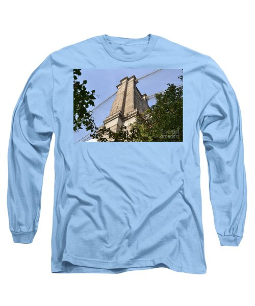 Long Sleeve T-Shirt featuring the photograph Brooklyn Bridge2 by Zawhaus Photography