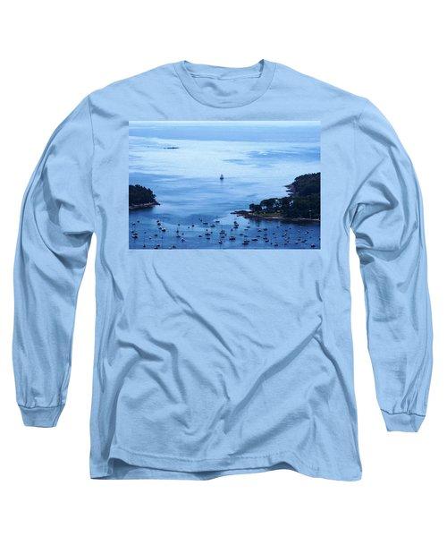 Camden Harbor Long Sleeve T-Shirt by Joe Faherty