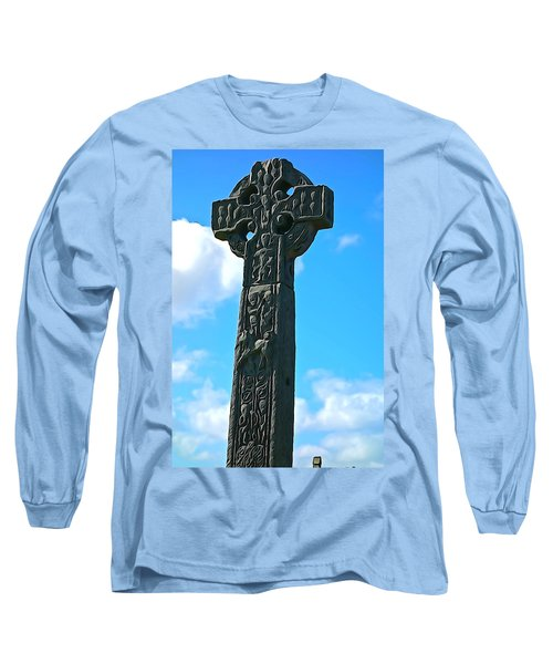 Long Sleeve T-Shirt featuring the photograph Celtic Cross by Charlie and Norma Brock