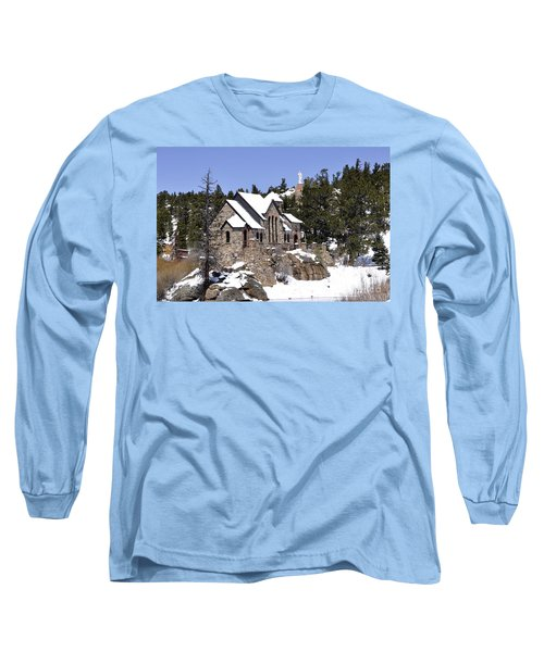 Chapel On The Rocks No. 3 Long Sleeve T-Shirt by Dorrene BrownButterfield