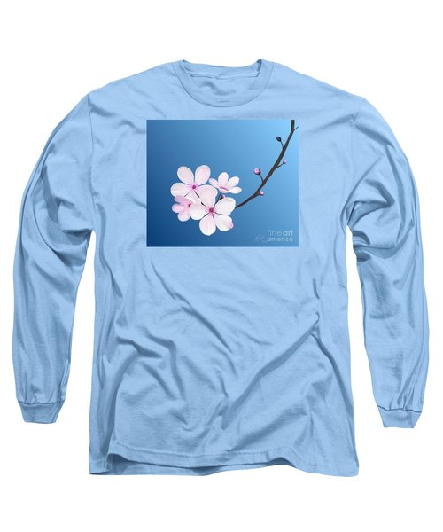 Long Sleeve T-Shirt featuring the painting Cherry Blossoms by Rand Herron