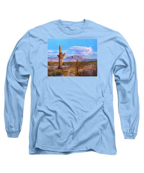 Long Sleeve T-Shirt featuring the painting Desert Scene 4 by M Diane Bonaparte