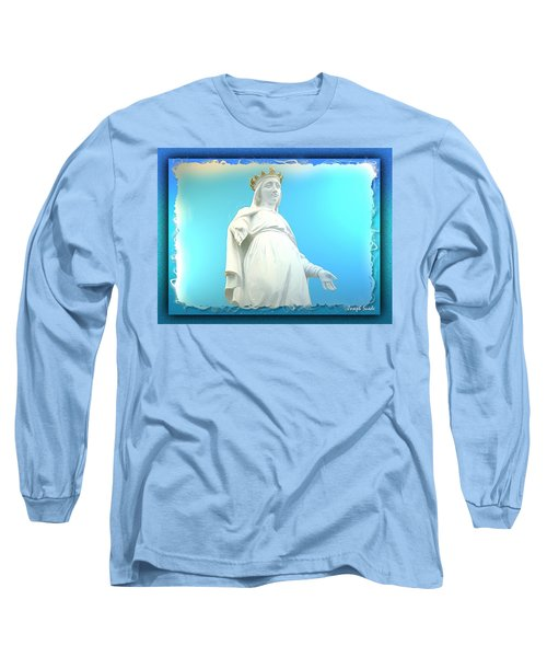 Do-00531 Our Lady Of Lebanon Long Sleeve T-Shirt by Digital Oil