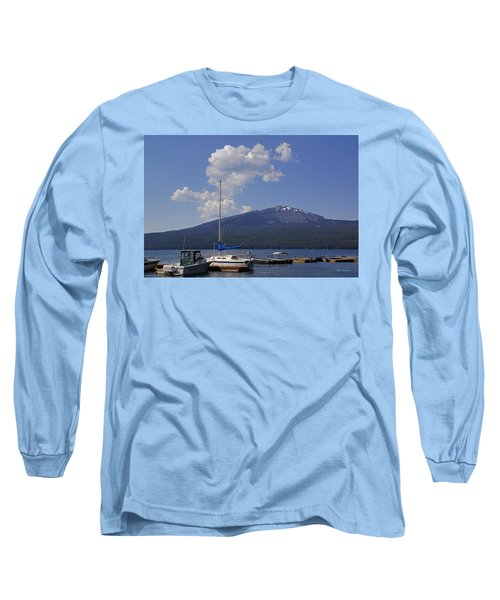 Docks At Diamond Lake Long Sleeve T-Shirt by Mick Anderson
