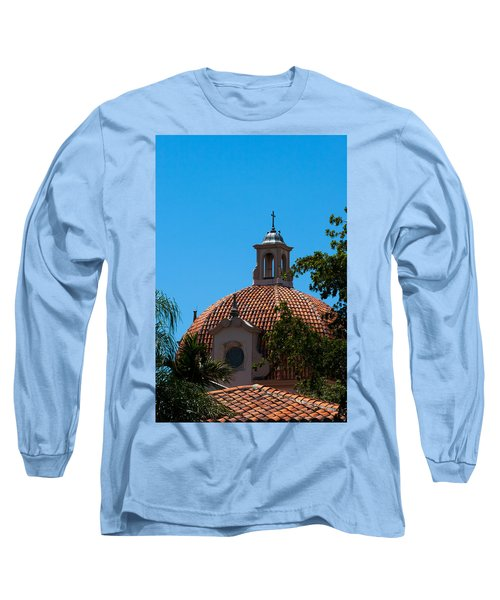 Long Sleeve T-Shirt featuring the photograph Dome At Church Of The Little Flower by Ed Gleichman