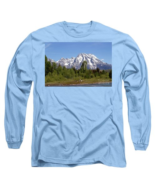 Driftwood And The Grand Tetons Long Sleeve T-Shirt by Living Color Photography Lorraine Lynch