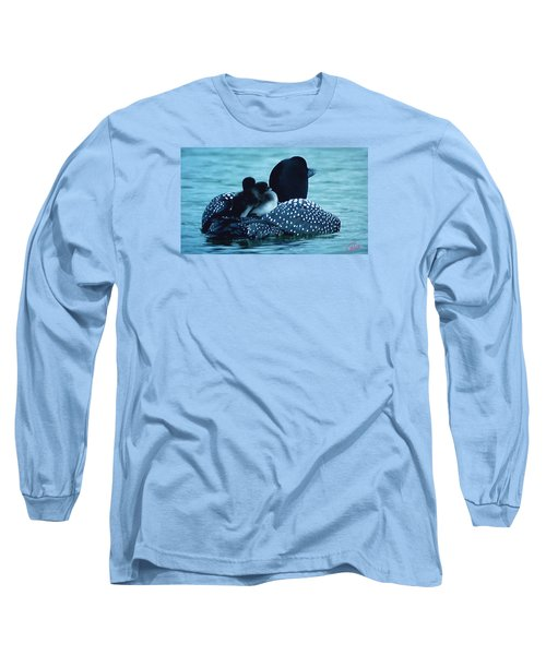 Duck Family Joy In The Lake  Long Sleeve T-Shirt