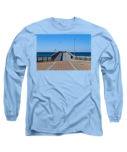 Long Sleeve T-Shirt featuring the photograph Entrance To A Fishing Pier by Susan Leggett